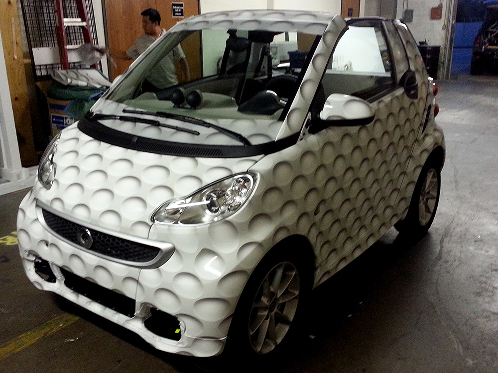 Auto Wraps Smart Car Golf