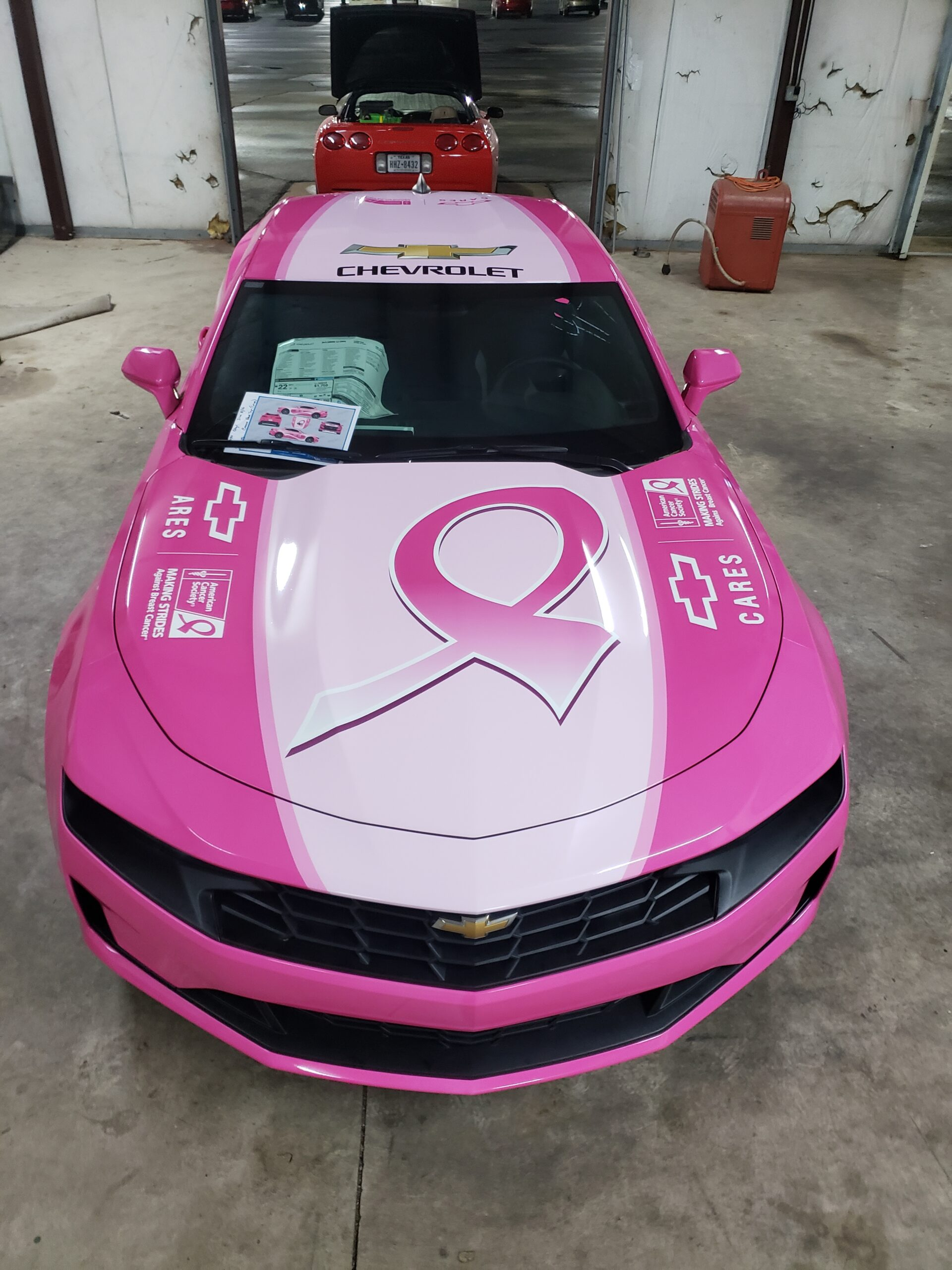Auto Wraps Breast Cancer Awareness Pink Camero